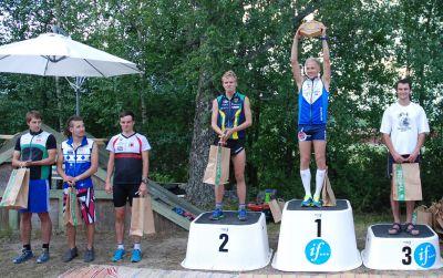 Toppen i mål: 6) Tuomo Istolahti, 5) Samu Heiska, 4) Andreas Hall, 2) Olli-Markus Taivainen, 1) Pasi Ikonen, 3) Ruslan Glebov. (Foto: Atte Koskela)